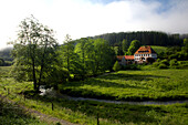 Tavern ''Hoher Knuck'', Hafenlohrtal, Spessart Nature Park, Lower Franconia, Bavaria, Germany