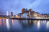 Guggenheim Museum Bilbao , museum of modern and contemporary art , architect Frank Gehry , Bilbao, Basque Country, Spain (editiorial only)