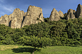 The Penitents des Mees, between Forcalquier, Sisteron and Digne, Alpes-de-Haute-Provence, France