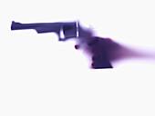 Hand aiming revolver
