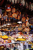 Abundance of food at deli in market