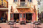 Mundo Bizarro, Latino restaurant, lounge, cafe with a Cuban syle interior, Pietermaai, Willemstad, Curacao, West Indies, Lesser Antilles, former Netherlands Antilles, Caribbean, Central America