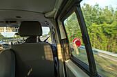 German Autobahn, driving with Autobahn police patrol, waving down, halt, stop, security, check, patrol, motorway, highway, freeway, speed, speed limit, traffic, infrastructure, Germany