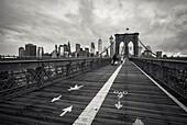 Brooklyn Bridge with Skyline Manhatten, New York City, New York, USA