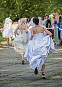 Participant of the first Polish Wedding Dress Run on 15th September, 2014 in Agrykola Park in Warsaw The collected money from charity run will cover cost of rehabilitation of Julia Torla (Miss Wheelchair 2014 in Poland)