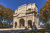 Roman Arch, Triumphal Arch, Unesco World Heritage Site, Orange, Vaucluse, Provence, Provence-Alpes-Côte d´Azur, France