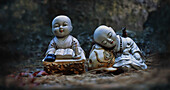 Baby monk statuettes on Namsan Mountain, Geongju (Kyongju), Geongju   South Korea