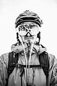 Are, Sweden - januari 2013. Portrait of telemark skiier Daniel Larsson.