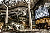 Futuristic mall in downtown Singapore.