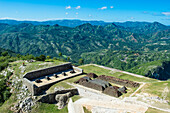 View over the beautiful mountains around the Citadelle Laferriere, UNESCO World Heritage Site, Cap Haitien, Haiti, Caribbean, Central America