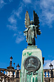 Angel overlooking Parade Gardens, Bath, Somerset, England