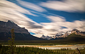 Long exposure near Saskatchewan River Crossing, Jasper National Park, Alberta, Canada