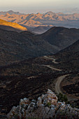 A view of the road leading into Richtersveld National Park, South Africa