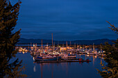 Darkness descends on the Port of Ilwaco, Ilwaco, Washington, United States of America