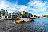 view to the Amstel in Amsterdam, Netherlands