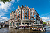 Grandhotel L'Europe with view to the Amstel in Amsterdam, Netherlands
