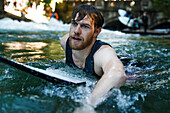 Surfer, Eisbach, Munich, Bavaria, Germany