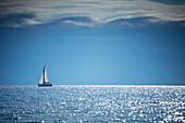 Sailing yachts and sailing boats, Kornati Islands, Adriatic Sea, Croatia