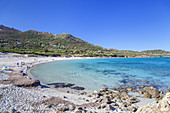 Bodri beach near Ile Rousse, Corsica, Southern France, France, Southern Europe