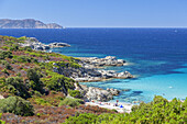 Beach in Algajo, Corsica, Southern France, France, Southern Europe