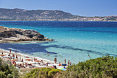 Beach in Arinella, Corsica, Southern France, France, Southern Europe