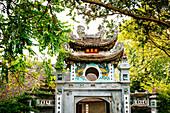 Ornate arch in Ho Chi Min City, Vietnam