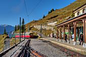 Summitstation of Schynige-Platte railway, Wilderswil, Bernese alps, Canton Berne, Switzerland