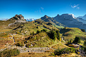 View at Oberberghorn, Loucherhorn and Indri Sagissa from Schynige Platte, Wilderswil, Bernese alps, Canton Berne, Switzerlan