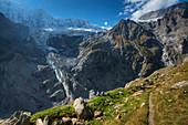 View at Fiescherhorn, Grindelwald, Bernese alps, Canton Berne, Switzerland