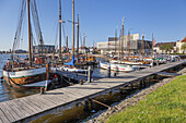Old harbour in Bremerhaven, Hanseatic City Bremen, Northern Germany, Germany, Europe