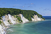 Cliffs at the chalk coast in national park Jasmund, Sassnitz, Peninsula Jasmund, Island Ruegen, Baltic Sea coast, Mecklenburg-Western Pomerania, Northern Germany, Germany, Europe
