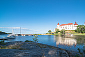 view towards castle lacko, Lake Vanern, Kallandso, Lidkoping, Vastergotland, Sweden