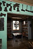 Blick in einen Verkaufsraum der Axtschmiede Wetterlings, Storvik, Gävleborg Iän, Schweden