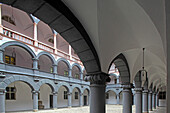 Courtyard, Alte Muenze, Munich, Bavaria, Germany
