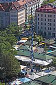 view over Viktualienmarkt, Munich, Bavaria, Germany