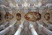 Painted vault of the church Heilig-Geist-Kirche, Munich, Haidhausen