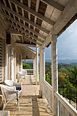 Chairs and porch at Good Hope Estate near Falmouth, Saint James, Jamaica