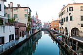 Chioggia, Seehafen in der Lagune von Venedig, Kanal, Idylle, Niemand, Venezia, Venetien, Italien