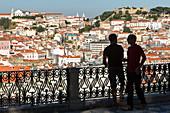view from Miradouro de Sao Pedro de Alcantara, above Lisbon, Portugal