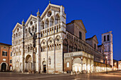 Cathedral San Giorgio in the blue hour, Ferrara, Emilia-Romagna, Italy