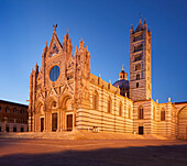 Cathedral Cathedral of Santa Maria Assunta in Siena at the blue hour, Tuscany, Italy