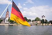 Bootstour on river Rhein, Eltville am Rhein, Rheingau, Hesse, Germany