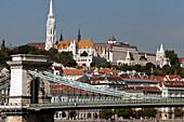 Matthias Church and the Chain Bridge, Budapest, Hungary
