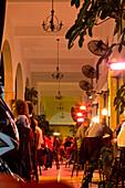 Dining in trendy Har Sinai quarter, Tel-Aviv, Israel