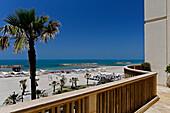 Herziliyah beach seen from Hotel and beach resort Accadia, Israel