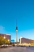 Alexanderplatz and TV Tower at night, Berlin, Germany