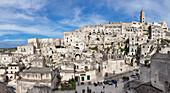 Sasso Barisano and cathedral, UNESCO World Heritage Site, Matera, Basilicata, Puglia, Italy, Europe