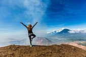 On the summit of the active Pacaya Volcano, Guatemala, Central America