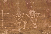 Rock Art, Anthropomorph images, 600AD to 1250AD, Sego Canyon, Southern Utah, United States of America, North America