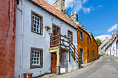 Colourful houses in the quaint village of Culross, Fife, Scotland, United Kingdom, Europe